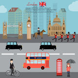 London city  capital of England Great Britain vector illustratio Stock Images