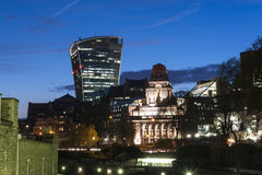 London city center by night Royalty Free Stock Image