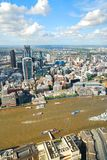 London city center and river Thames viewed from above royalty free stock photography