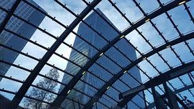 London city centre. Canary Wharf station Royalty Free Stock Photo