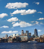 London with city cruise. Modern London with city cruise, England Royalty Free Stock Image