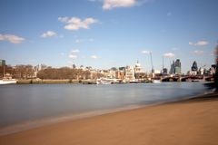 London city from the embankment beach Stock Photos