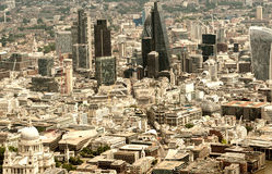 London City. Financial and business district Stock Image