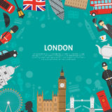 London City Frame Background Flat Poster Royalty Free Stock Photos