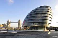 London City Hall. The London City Hall building from Norman Foster in the headquarters of the Greater London Authority Royalty Free Stock Photo