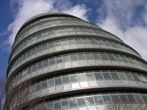 London City Hall. City Hall view from outside with blue sky enhanced with polarizer filter Stock Images