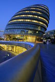 London city hall building at night Stock Photo