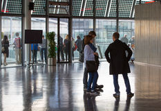 LONDON, City Hall interior with people Royalty Free Stock Images