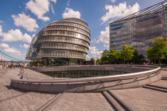 London City Hall. And The Scoop Stock Photography