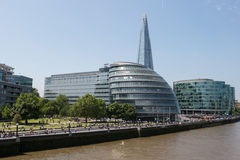 London City Hall and The Shard tower Stock Photo
