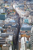 LONDON, City of London aerial view, office buildings and roads Stock Photo