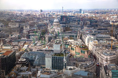 LONDON, City of London aerial view, office buildings and roads Stock Photos