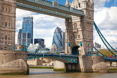 LONDON,  City of London and Tower bridge  from the Tower bridge. Stock Photo