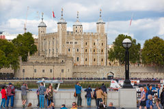 LONDON, City of London Tower of London view,  from the Thames embankment Stock Photo