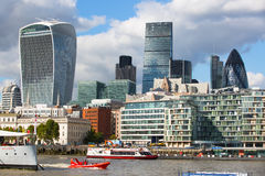 LONDON, City of London view, modern buildings of offices, banks and corporative companies Stock Image