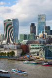 LONDON, City of London view, modern buildings of offices, banks and corporative companies Stock Photography