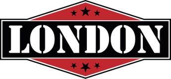 London city modern web badge icon with stars Imagenes de archivo