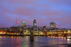 London city  at night Stock Photos