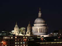 London city - night scene#3. St. Pauls Cathedral - shot at night royalty free stock images