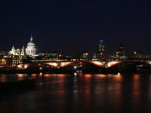 London city - night scene#4. River Thames - night scene London royalty free stock photos