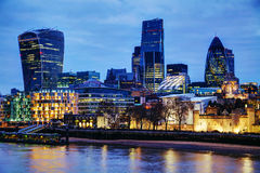 London city at the night time Stock Image