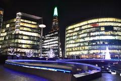London city at night. 21.12.2015 Royalty Free Stock Photography