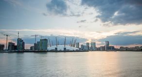 London city o2 arena skyline panorama Stock Photos