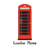 London city phone Famous London red telephone box. Royalty Free Stock Image