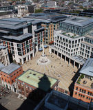 London city plaza. City plaza viewed from St Paul's Cathedral, London Royalty Free Stock Photo