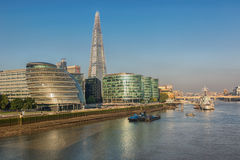 London city and river Thames. Stock Image