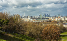 London city seen from Greenwich Royalty Free Stock Photo