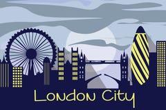 London city silhouette vector illustration