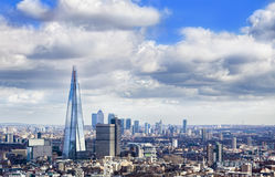 London city skyline. In a beautiful day royalty free stock photography