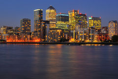London city skyline at dusk Stock Photos