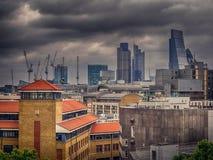 London City skyline at dusk Stock Image