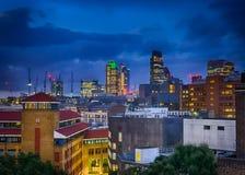 London City skyline at dusk Stock Images