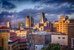 London City skyline at dusk Stock Photography