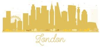 London City skyline golden silhouette. Stock Image