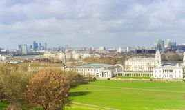 London city skyline. From Greenwich park Stock Images