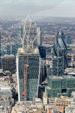 London City Skyline. Modern Skyscrapers in London financial district royalty free stock photos
