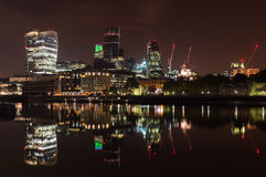 London City Skyline at Night Royalty Free Stock Photo