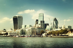 London city skyline Royalty Free Stock Images