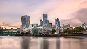 London City Skyline and River Thames in the Morning, London, Uni Royalty Free Stock Photos