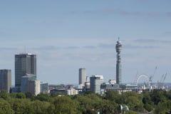London city skyline. Skyline shot of london from primrose hill park Royalty Free Stock Photography