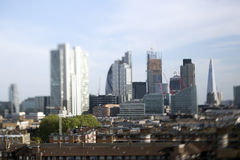 London city skyline. Skyline shot of london's financial centre Stock Photography