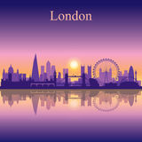 London city skyline silhouette background Stock Image