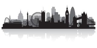 London England city skyline silhouette royalty free illustration
