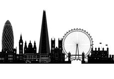 London city skyline silhouette, vector illustration. Isolated Stock Images