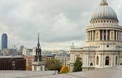 London City Skyline St Pauls Stock Photos