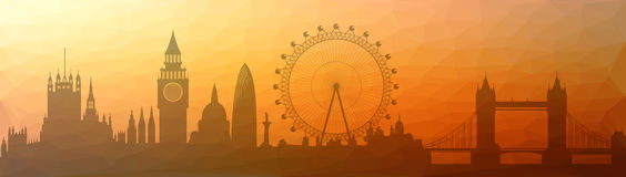 London city skyline triangulated Royalty Free Stock Photography